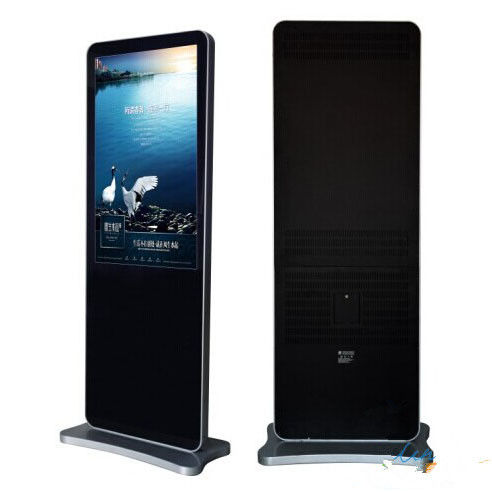 Bank / Airport Floor Standing LCD Advertising Player With 8ms Responsive Time